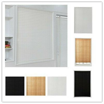 Temporary Blackout Window Curtain Shade Pleated Blinds Home