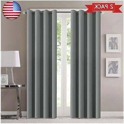warm blackout curtains panels for bedroom grommet