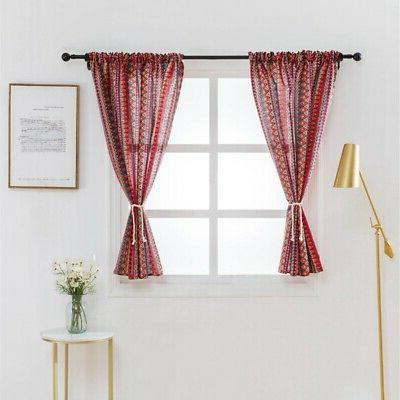 Wide Blackout Curtain Sheer Lattice