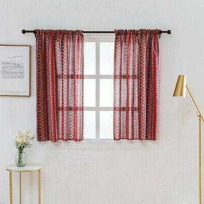Wide Thermal Curtain Sheer Valance Lattice Home