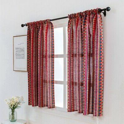 Wide Thermal Blackout Curtain Sheer Balcony Lattice Home
