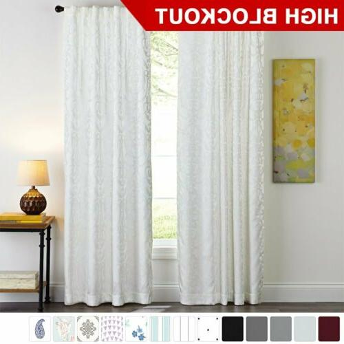 window curtains blackout room darkening thermal insulated