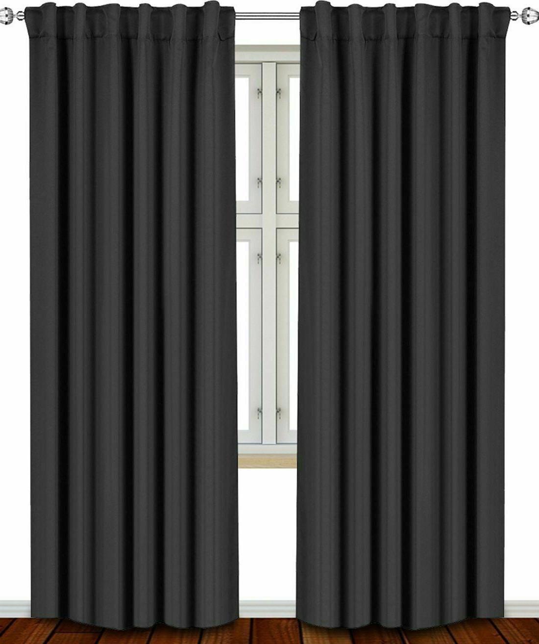 """Window Curtains Room Thermal 2 Panels 52Wx63L"""" Utopia Bedding"""