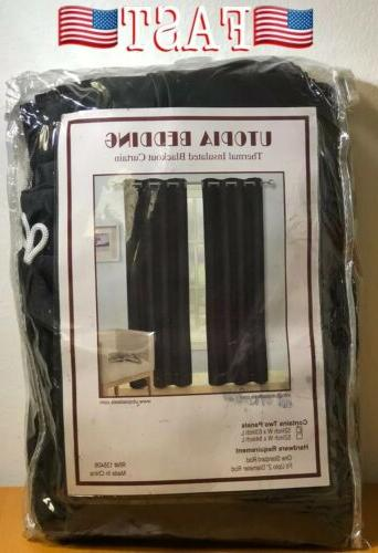 window curtains blackout room thermal insulated 2