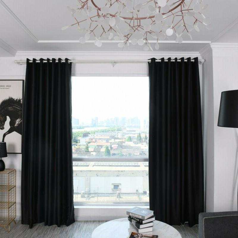 Simple Window Curtains Insulated Drapes Grommet