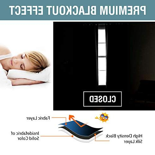 Curtains 96 Inches Blackout Darkening Insulated Grommet Curtains Drapes Draperies for Room Saving Door, Panel