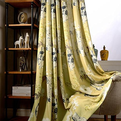 Anady Top Yellow Blackout White Flower Bedroom Long