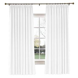"ChadMade 50"" W x 63"" L Polyester Linen Drapes with Blackout"