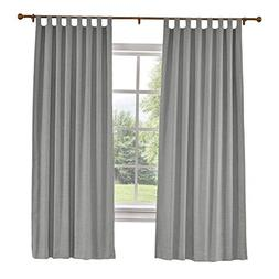 "ChadMade 84"" W x 96"" L Polyster Linen Drapes with Blackout L"