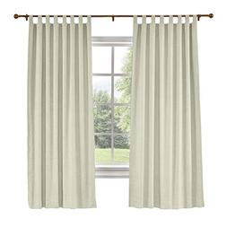 "ChadMade 72"" W x 84"" L Polyster Linen Drapes with Thermal Bl"