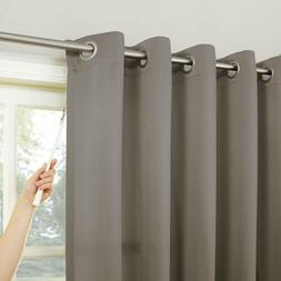 large sliding door curtain for noise reduction