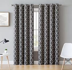 HLC.ME Lattice Print Thermal Insulated Blackout Window Curta