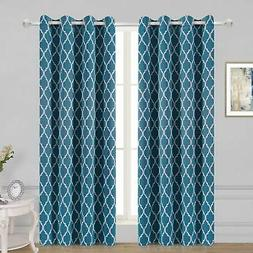 Lattice Printed Thermal Insulated Blackout Curtains for Livi