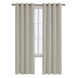 Deconovo Light Beige Home Thermal Insulated Blackout Curtain