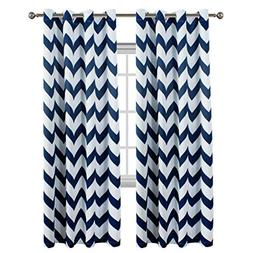 Flamingo P Chevron Pattern Thermal Insulated Blackout Curtai