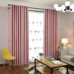 Light Blocking Faux Silk Curtains for Bedroom 100 x 96 inche
