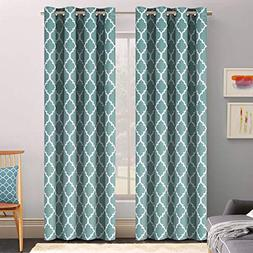 Flamingo P Light Blocking Moroccan Insulated Blackout Drapes