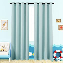 Room Darkening Curtains for Boy's Room 63 inches Long Light