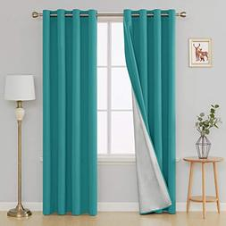 Deconovo Light Blocking Thermal Insulated Drapes Grommet Top