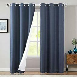jinchan Lined Thermal Blackout Curtain 95 Inch Long Light