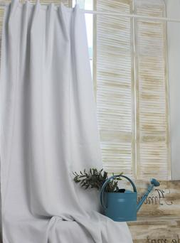 Linen Back Tab Curtain Panel with Blackout Lining - Natura