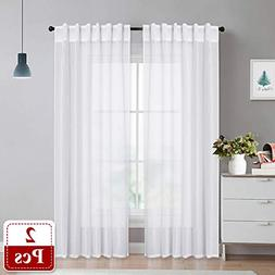 NICETOWN Linen-Like Texture Curtain Panels - Privacy Light a