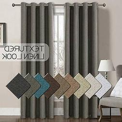 Linen Panels Blackout Curtains 84 Inches Long For Bedroom He