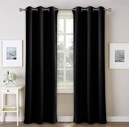 PONY DANCE Bedroom Window Curtains - Blackout Dark Curtain P