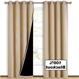 NICETOWN Thermal Insulated 100% Blackout Curtains, Multi-Fun