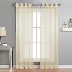 NICETOWN Living Room Sheer Curtains - Home Fashion Grommet T