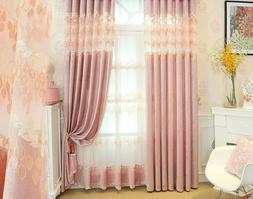 living room simple pink girl romantic curtain