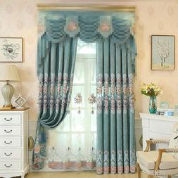 Living Room Window Curtains Blind Drapes Panel Fabric Curtai