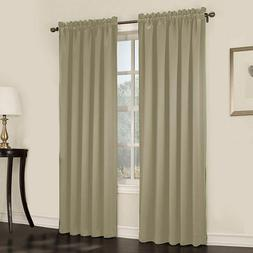 Sun Zero Ludlow Rod-Pocket Room-Darkening Curtain Panel Pair