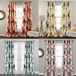 Lush Decor Leah Floral Darkening Window Curtains Panel Set o