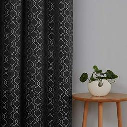 Deconovo Luxurious Black Curtains for Living Room Moroccan J