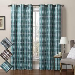 Mansoon Woven Jacquard Insulated Blackout Curtain  Panels 76