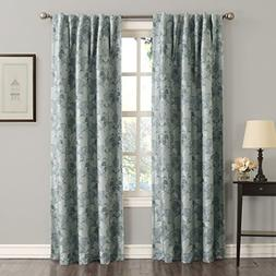 *Sun Zero Mayfair Room-Darkening Rod-Pocket/Back-Tab Curtain