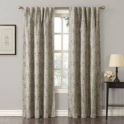 Sun Zero Mayfield Floral Pattern Blackout Back-Tab Curtain P
