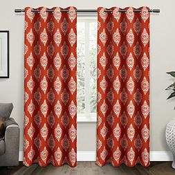 Exclusive Home Medallion Blackout Window Curtain Panel Pair