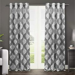 Exclusive Home Medallion Blackout Grommet Top Curtain Panel