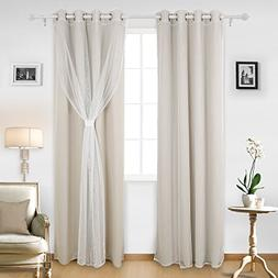 Deconovo Mix and Match Curtain Sets 2-Piece Thermal Insulate