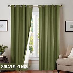 Moderate Blackout Curtains for Bedroom 95 inches Long Lined