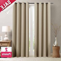 Moderate Blackout Curtains for Bedroom 95 inches Long Light