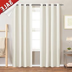 Moderate Blackout Curtains for Bedroom 95 inch Quality Faux