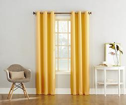 "No. 918 Montego Casual Textured Grommet Curtain Panel, 48"" x"