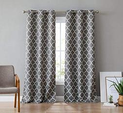HLC.ME Moroccan Lattice Print Thermal Insulated Room Darkeni