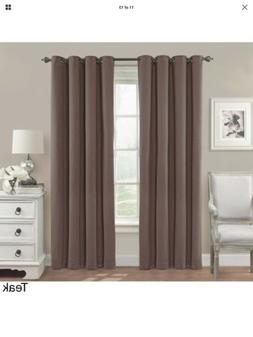 Eclipse Nadya Solid Blackout Window Curtain Panel , 84-Inch,
