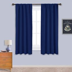 NICETOWN Navy Bedroom Curtains Blackout Draperies - All Seas