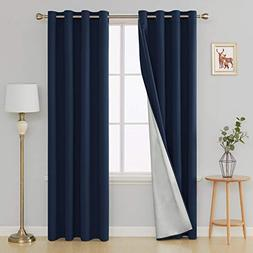Deconovo Thermal Insulated Blackout Curtains Grommet Room Da