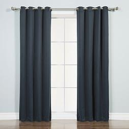 Navy Solid Grommet Top Thermal Insulated Blackout Curtains 5